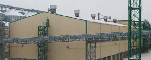АСУ ТП поточно-транспортных систем склада шрота. Напольный склад шрота