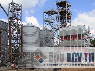 АСУ ТП элеватора емкостью 100 000 тонн. Зерносушилка