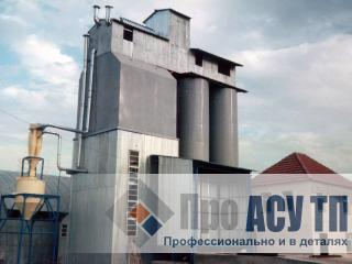 АСУ ТП комбикормового завода производительностью 210 тонн в сутки. Комбикормовый завод