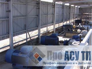 АСУ ТП перевалочной базы нефтепродуктов емкостью 20 000 тонн. Насосная