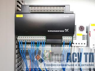 Автоматизированная система диспетчеризации очистных сооружений дождевого стока. ПЛК шкафа управления насосами