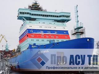Ледокол ЛК-60 проекта 22220. Общий вид ледокола Арктика