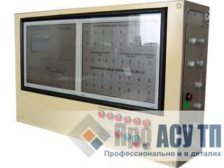 Автоматизированная система контроля и регистрации работы технологического оборудования. Информационная панель